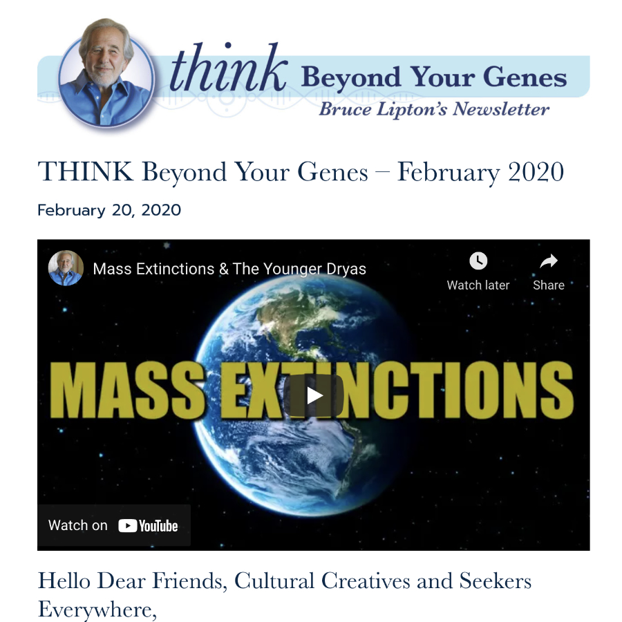Bruce Lipton Newsletter
