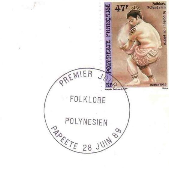 Folklore Polynésien – A stamp for French Polynesia