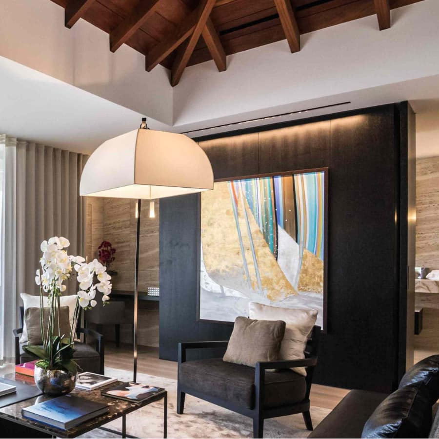 Paintings by Kay Quattrocchi in Villa Wake Up, Flamands, St Barthélemy.